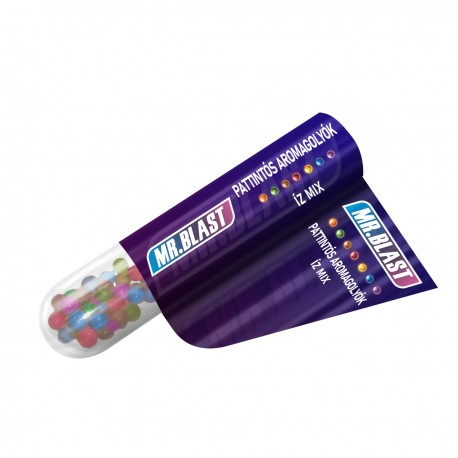 Mr. Blast pattintós aromagolyók - íz mix - 50 db