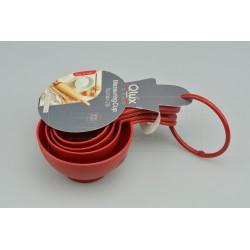 Qlúx 4 műanyag mérőkéből álló készlet - 60-240 ml - 16 cm