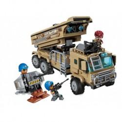 Qman Combat Zone 1728 építőjáték - katonai teherautó rakétákkal - Rappa