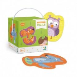Puzzle kevés résszel - erdei állatok - TM Toys
