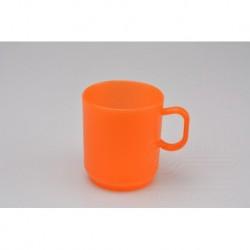 Műanyag bögre - 2,5 dl - narancssárga - TVAR