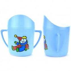 Bögre csecsemőknek - 8 cm - kék bohóccal - TVAR