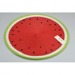 Kötött teríték - 38 cm - görögdinnye