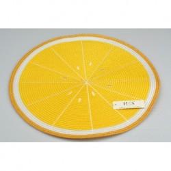 Kötött teríték - 38 cm - citrom