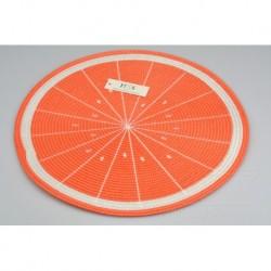 Kötött teríték - 38 cm - narancs