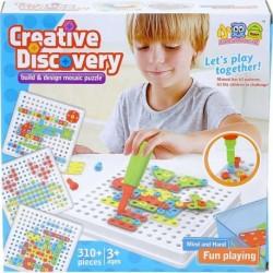 Kreatív csavarozható építőjáték - 310 részes készlet