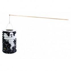 Halloween lámpás fapálcával - szellem minta - 15 cm - Rappa