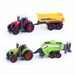Fém traktor pótkocsival - 2 darab - Rappa