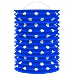 Papír lampion - kék fehér pöttyökkel - 23 cm - Rappa