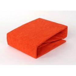 Prémium frottír lepedő - narancssárga - BedStyle
