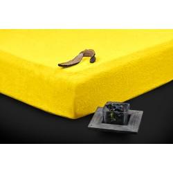 Prémium frottír lepedő - sárga - BedStyle