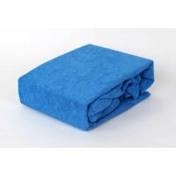 Prémium frottír lepedő - kék - BedStyle