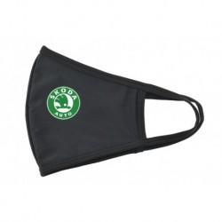 Textil szájmaszk - Škoda - zöld-fehér logó