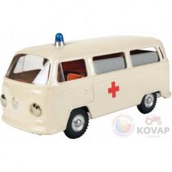 Volkswagen fém kisautó - mentőautó
