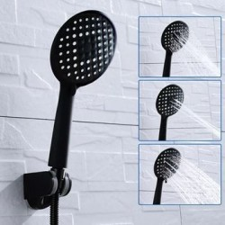 Takarákos design zuhanyfej - fekete