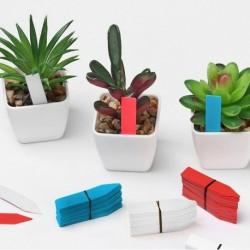 Írható címkék a növényekhez - kék - 100 db