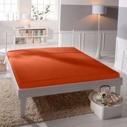 BedStyle gumis Jersey Premium lepedő - narancssárga