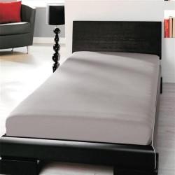 BedStyle gumis Jersey lepedő - szürke
