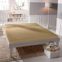 BedStyle gumis Jersey Premium lepedő - bézs