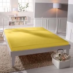 BedStyle gumis Jersey Premium lepedő - sárga
