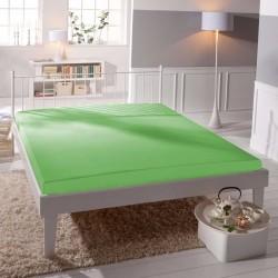 BedStyle gumis Jersey Premium lepedő - zöld
