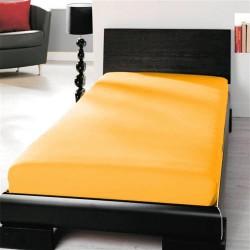 BedStyle gumis Jersey Premium lepedő - napsárga