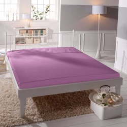 BedStyle gumis Jersey Premium lepedő - lila