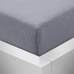 BedStyle gumis Jersey Premium lepedő - sötétszürke