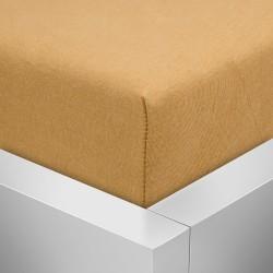 BedStyle gumis Jersey Premium lepedő - borostyán