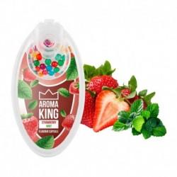 Aroma King pattintható aromagolyók - Eper mentával - 100 db