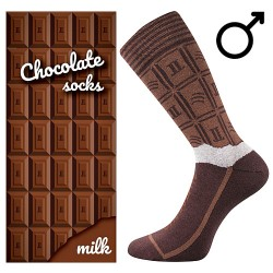 Zokni - tejcsokoládé - férfi - 1 pár - Lonka