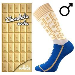 Zokni - fehér csokoládé - férfi - 1 pár - Lonka
