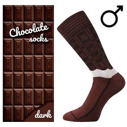 Zokni - étcsokoládé - férfi - 1 pár - Lonka