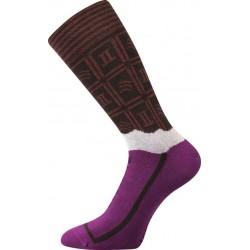 Zokni - étcsokoládé - női - 1 pár - Lonka