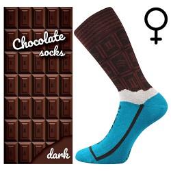 Zokni - tejcsokoládé - női - 1 pár - Lonka