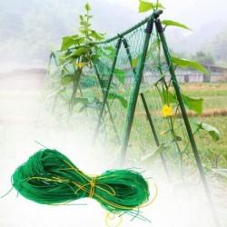 Támogató háló zöldségek és virágok termesztésére
