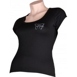 SELECT 02 női póló - rövid ujjú - fekete - VoXX