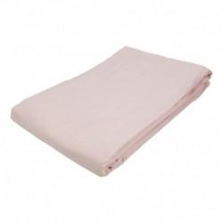 BedStyle pamut lepedő - gumírozás nélkül - 145 x 240 cm – rózsaszín
