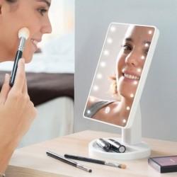 Kozmetikai sminktükör LED megvilágítással - fehér