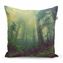 Párna nyomtatással - Sötét erdő - 50 x 50 cm - Sablio