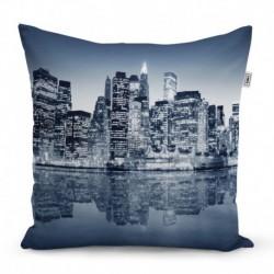 Párna nyomtatással - Éjszakai New York - 40 x 40 cm - Sablio